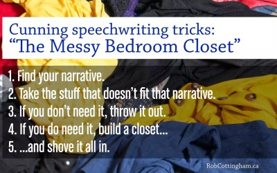 How Obama's messy closet saved the State of the Union speech