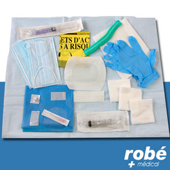 Kit de pose sur chambre implantable ou cathter central