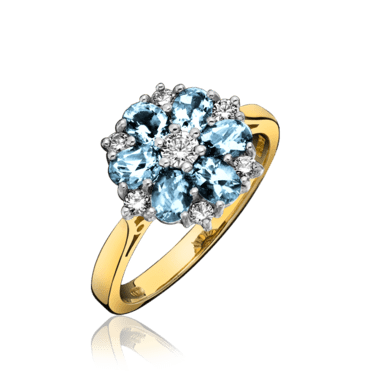 Ullmann blue topaz clustert