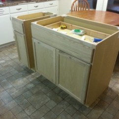 Make A Kitchen Island Folding Table Robert Brumm S Blog For The Base Cabinets I Decided On Using Two Unfinished Units 36 And 12 Put Together This Would Provide Me With 50 Counter Which Reckoned Was
