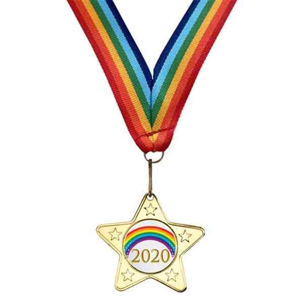 Rainbow Lockdown Medal