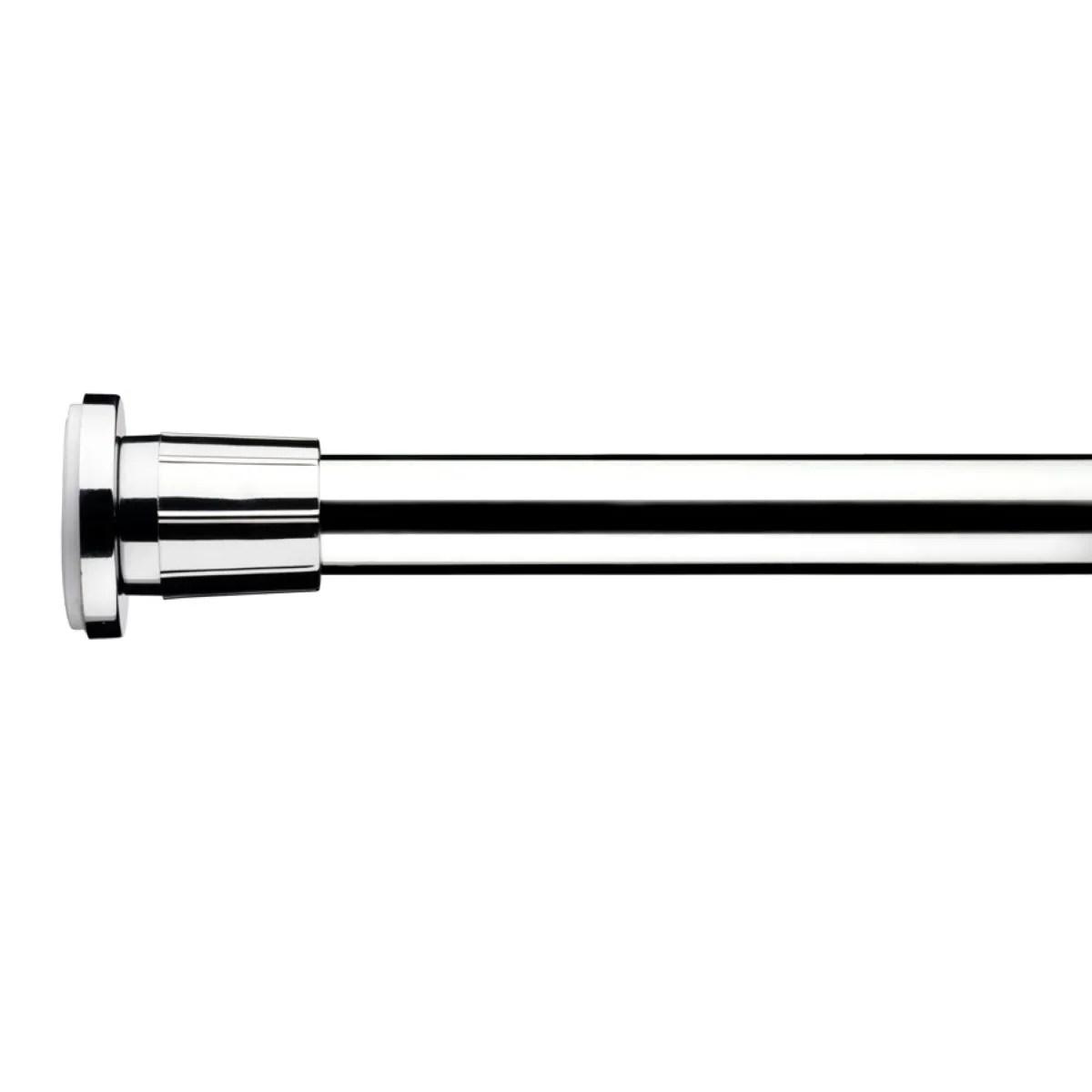 croydex extendable shower curtain pole chrome