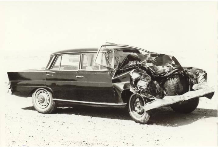 Crashed Mercedes