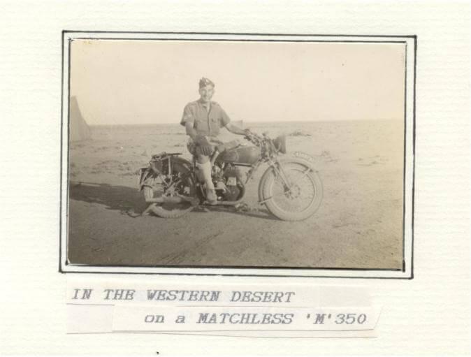 War - western desert - Matchless 350