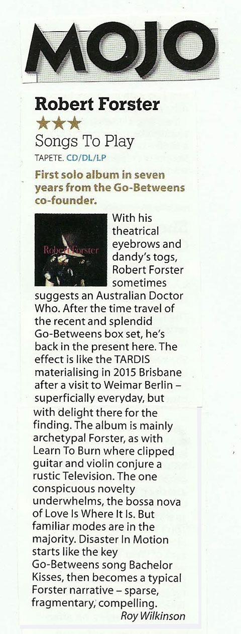 Robert Forster news