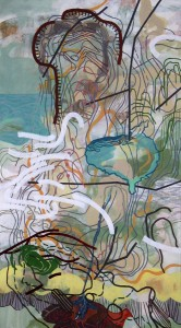 "Vista, 2008, acrylic on paper, 48"" x 26.5"""