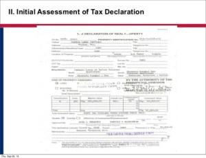 tax declaration r