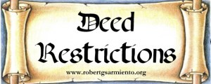 Deed of Restrictions p