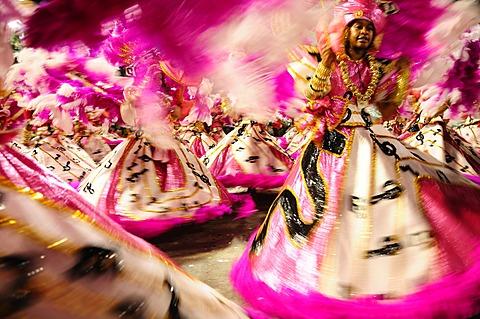Dancers during the Rio Carnival, Rio de Janeiro, Brazil, South America