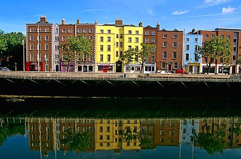 Quay, River Liffey, Dublin, Ireland.