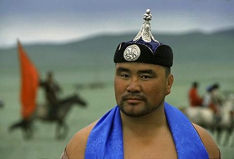 Wrestler, Nadaam Festival, Gobi Stepper, Mongolia, Asia