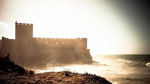 Fortress on coast, Essaouira, Morocco