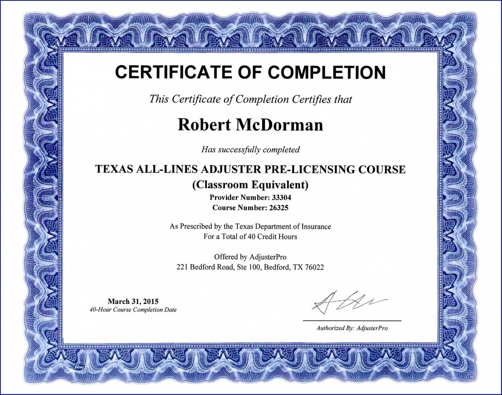 Education  Robert L McDorman