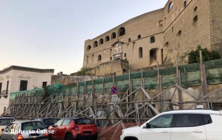 San Martino: transenne piazzale