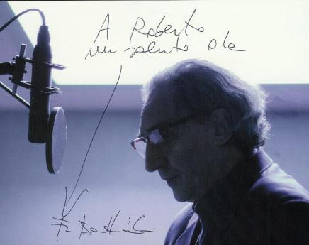 Franco Battiato - Autografo