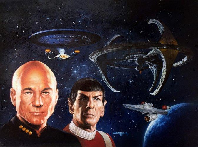 """Painting - """"Star Trek Cross Over"""" Cover"""