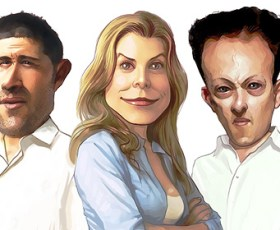 """Eye candy: A """"Lost"""" caricature.."""