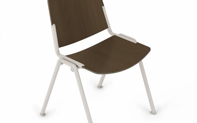 Seduta per spazi polifunzionali design Orlandini Sedute per zona attesa impilabili Brescia