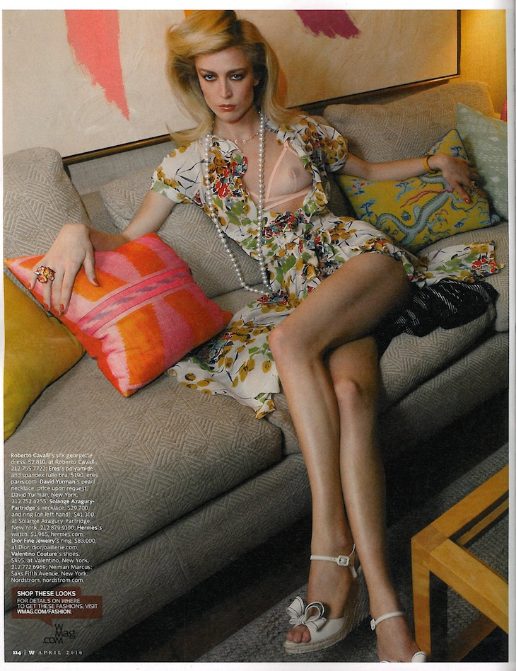 Raquel Zimmermann in Roberto Cavalli on W MAG April 2010