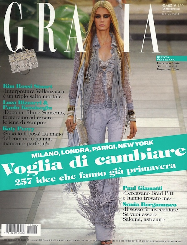 dbdd041ecc Roberto Cavalli total look on the cover of Grazia Italia – Roberto ...