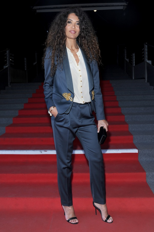 Afef Jnifer in Roberto Cavalli@on occasion of the premiere of Mourad Ben Cheikh 's film ''La Khaoufa Baada Al'Yaoum,during the 64th cannes film festival 2011-05-20