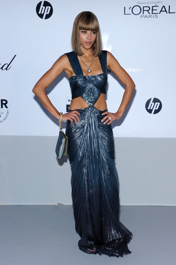 Ana Araujo in Roberto Cavalli @ 2011 amfAR's Cinema Against AIDS Gala 19-05-2011