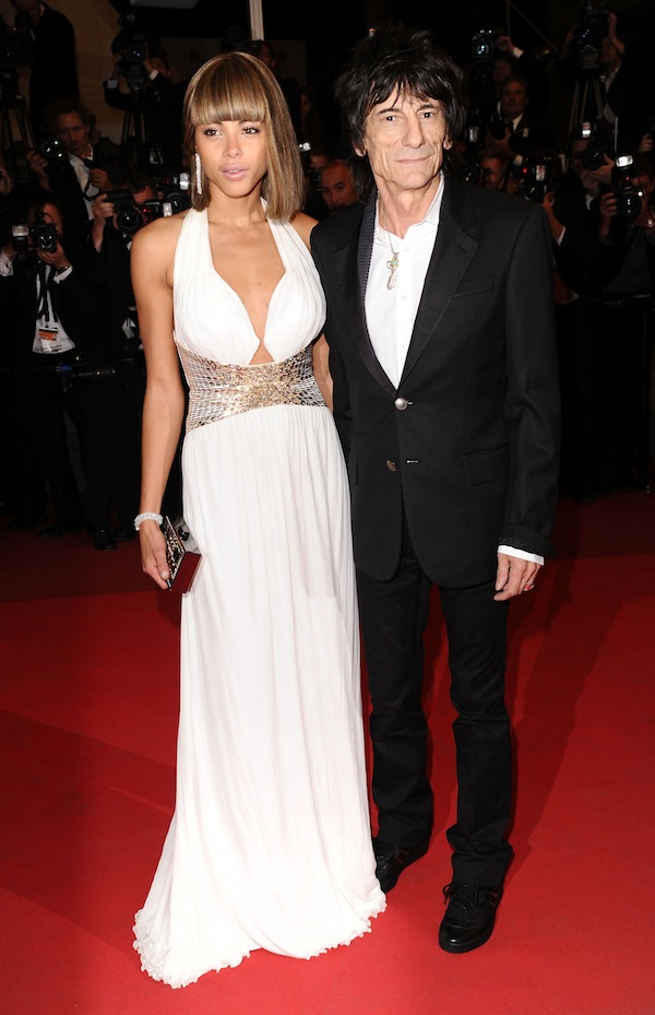 Ronnie Wood and his partner, the model Ana Araujo