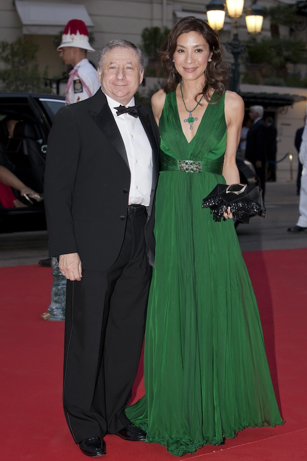 Michelle Yeoh in Roberto Cavalli at the Monaco Royal Wedding