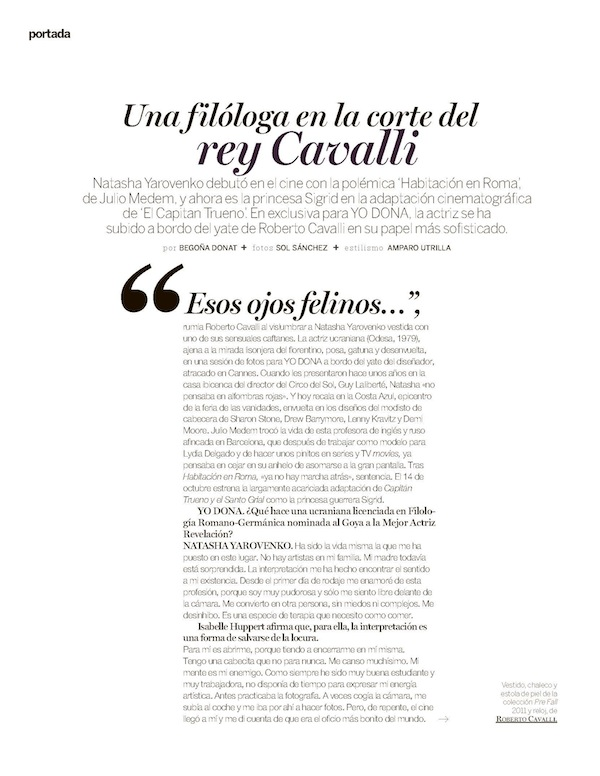 Roberto Cavalli with Natasha Yarovenko on Yo Dona