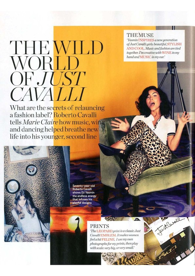 Just Cavalli on Marie Claire UK October 2011