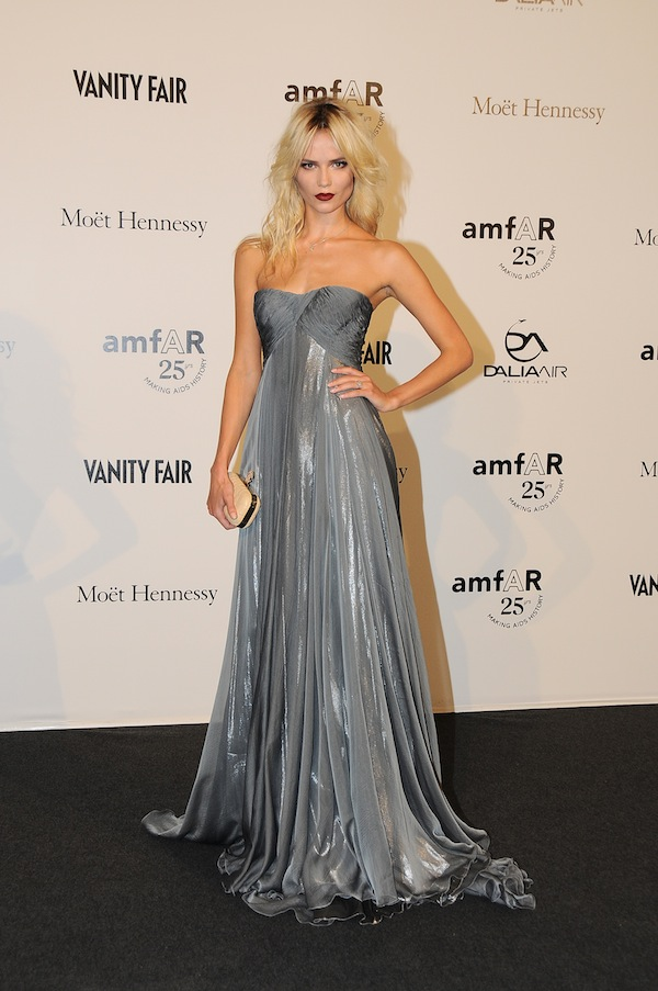 Natasha Poly in Roberto Cavalli at amfAR Milan 23-09-2011