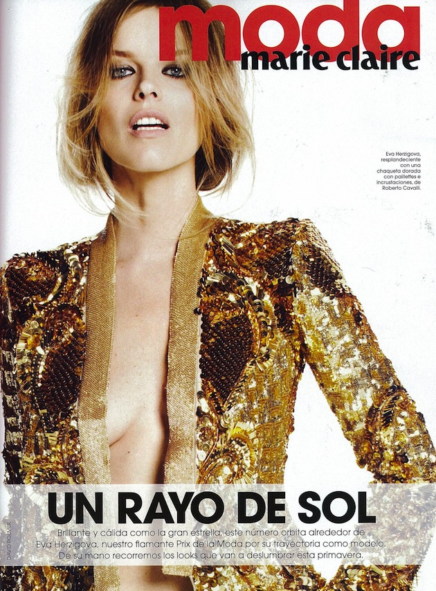 Eva Herzigova in Roberto Cavalli total look