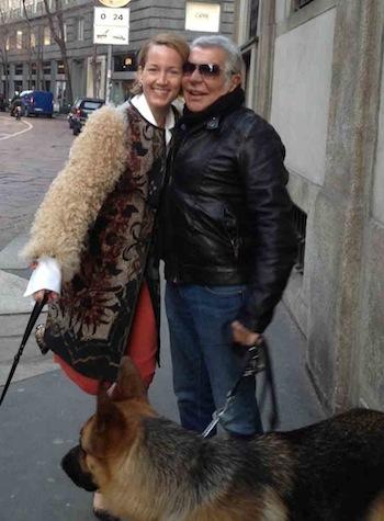 Roberto Cavalli with Susan Plagemann