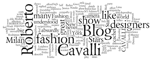 Roberto Cavalli Blog