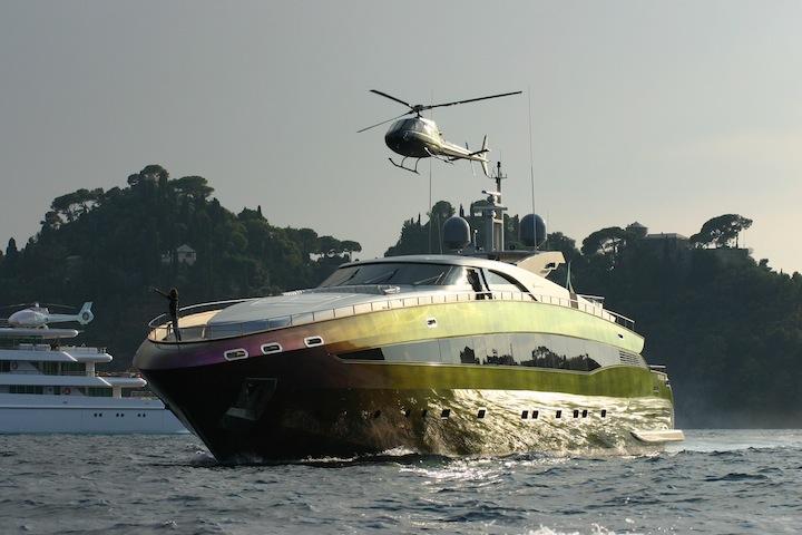 Roberto Cavalli's boat