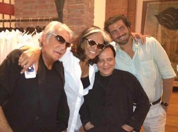 Roberto Cavalli with Azzedine Alaia and friends