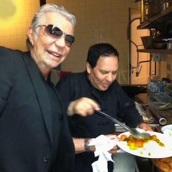 Roberto Cavalli with Azzedine Alaia