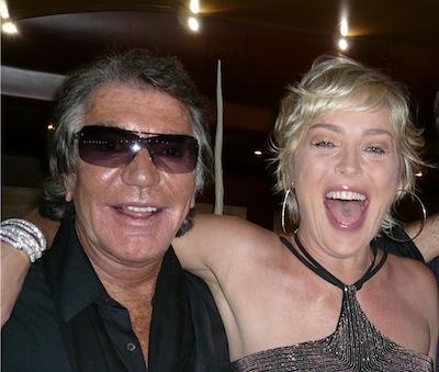 Roberto Cavalli with Sharon Stone