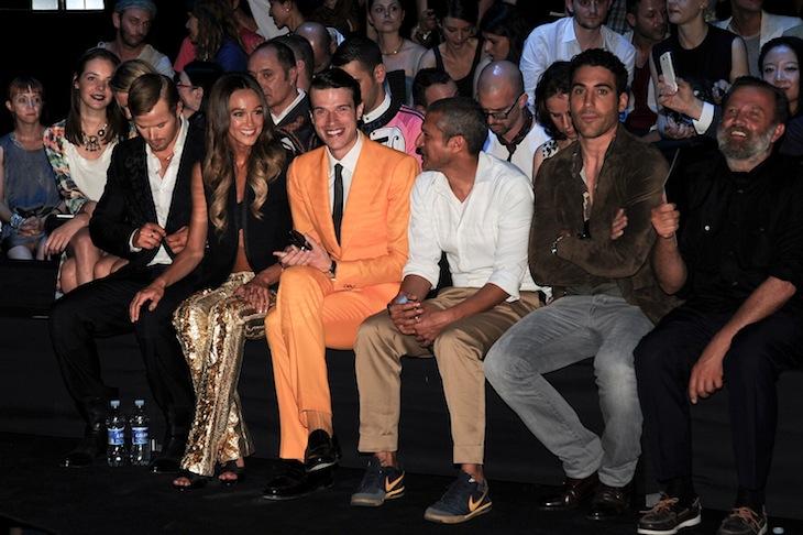 Front Row @ Roberto Cavalli Man SS2013 fashion show 24-06-2012 Milan - Kellan Lutz, Sharni Vinson Ivan Olita, Pablo Miguel Angel Silvestre, Robert Rabensteiner