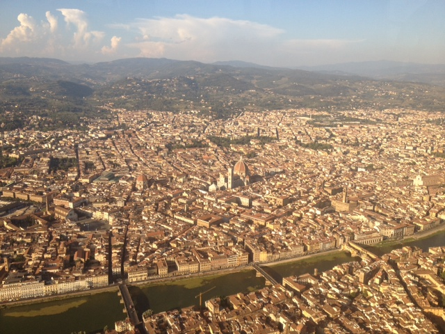Flying over Florence