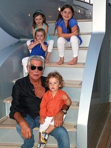 Roberto Cavalli with Ester Sara Anna and Gabriele