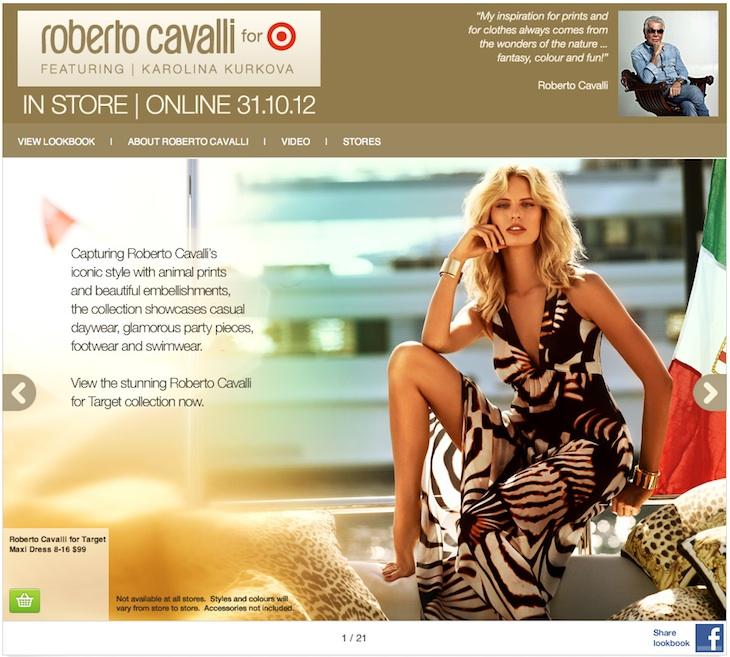 Roberto Cavalli for Target Australia