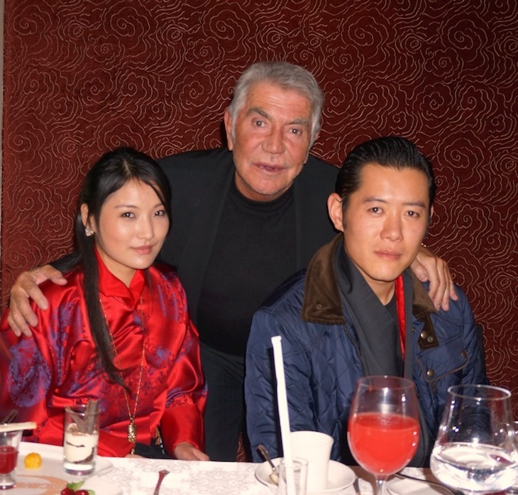 Roberto Cavalli with King Jigme Khesar Namgyel Wangchuck and Queen Jetsun Pema