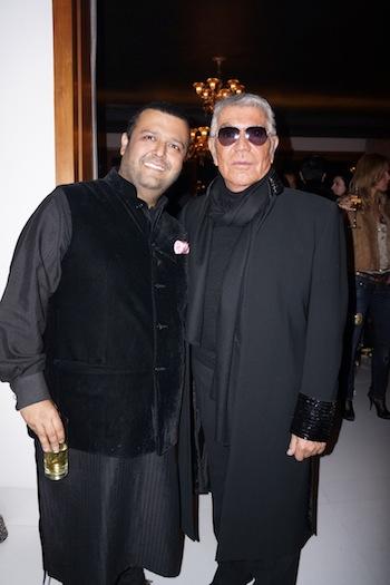 Roberto Cavalli with Manav Gangwani