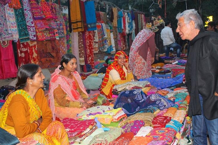 Roberto Cavalli at the fabric market