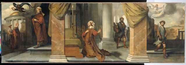 The Pharisee and the Publican (De Farizeeër en de tollenaar), 1661, Barent Fabritius (Dutch Baroque Era Painter, 1624-1673), oil on canvas, 95 x 287 cm, Rijksmuseum, Amsterdam, The Netherlands.