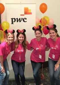"""Em parceria com o Disney Institute, a PwC criou uma """"sala de aula viva"""" para seus estagiários."""