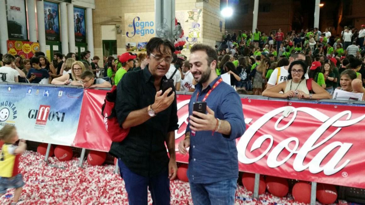 Giffoni Film Festival - Roberto Esposito e Giulio Base sul red carpet in diretta Periscope
