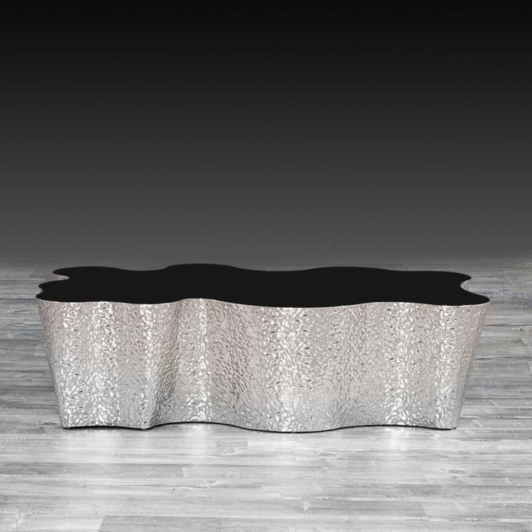 glacier coffee table silver
