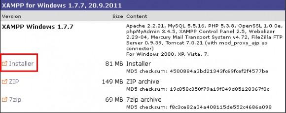 scaricare xampp windows 1 passo